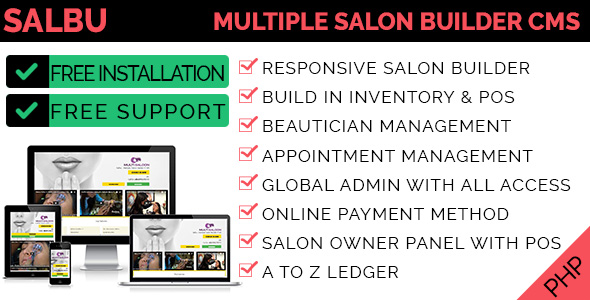 Salbu - Multiple Salon Builder CMS