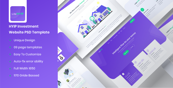 LiteHYIP – HYIP Investment Website PSD Template