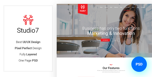 Studio7 - Multipurpose Business PSD Templates