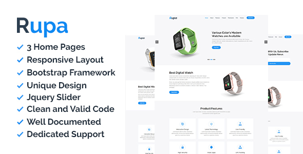 Rupa - Product Landing Page
