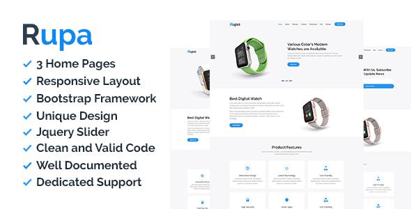 Rupa - Product Landing Page