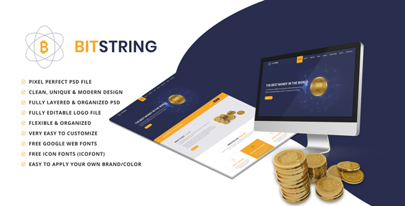 BIT STRING - Bitcoin Alternative PSD Templates