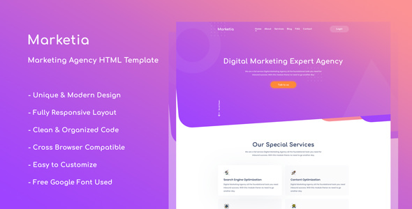 Marketia - Marketing Agency Business HTML Template