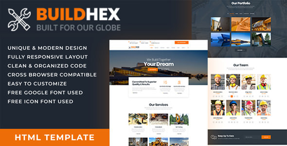 Buildhex - Construction, Renovation, Interior HTML Template