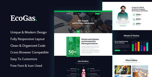 EcoGas - Petrol Pump Business HTML Template