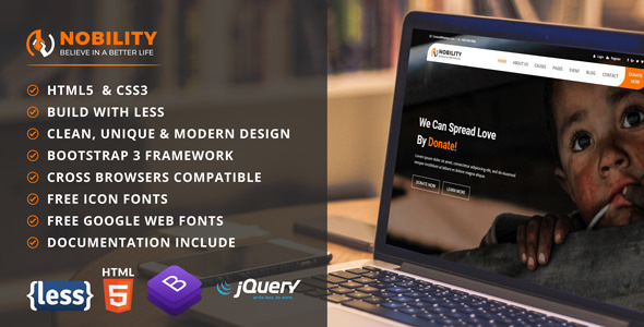 Nobility - Charity & Crowdfunding HTML5 Template