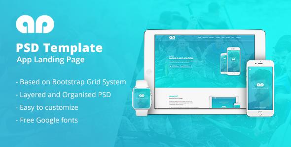 Labx - App Landing Page PSD Templates
