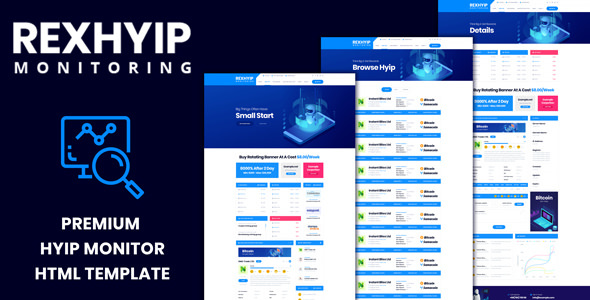 RexHYIP - HYIP Monitor & Listing HTML Template