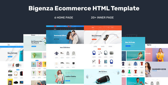 Bigenza - Ecommerce Shopping Cart Business HTML Template