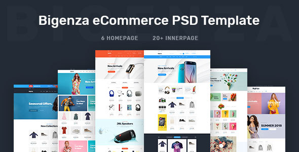 Bigenza - Online Shopping Ecommerce Cart PSD Template