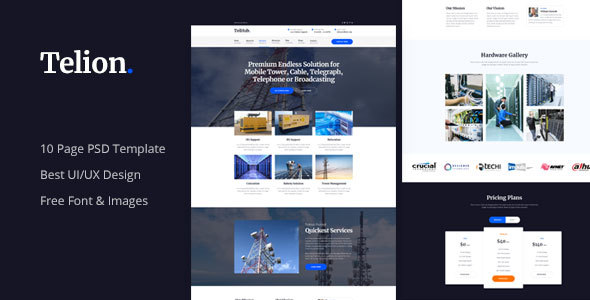 Telion - Telecommunication Business PSD Template