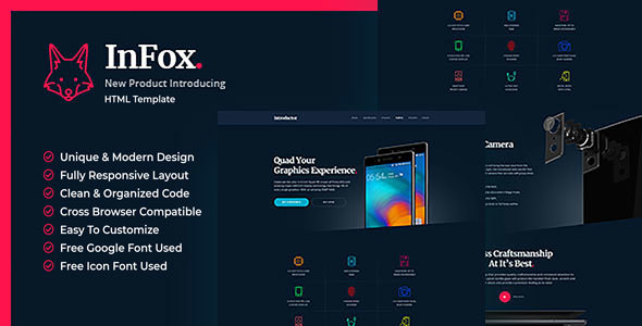 Infox - Mobile Phone Introductory HTML5 Templates
