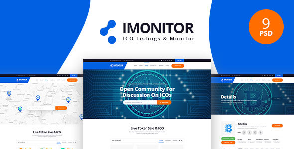 Imonitor - Ico Listing PSD Templates
