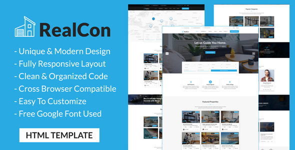 RealCon - Real Estate Property Listing HTML Template