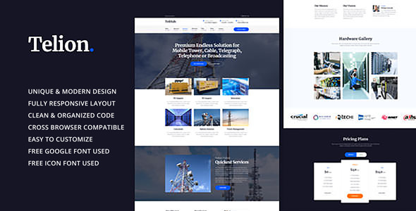 Telion - Telecommunication Business HTML Template