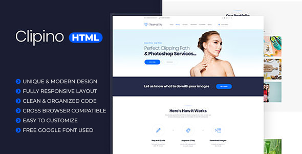 Clipino - Clipping Path Business HTML Templates
