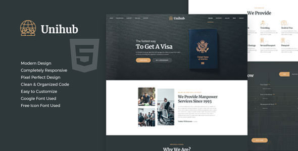 Unihub - Manpower Business HTML Template