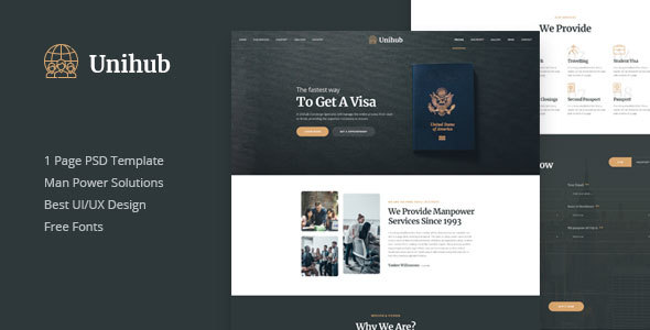 Unihub - Manpower Business PSD Template