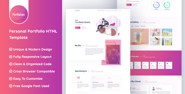 Portfolion - Personal Portfolio Website HTML Template