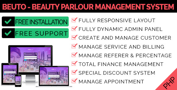 Beuto - Beauty Parlour Management System