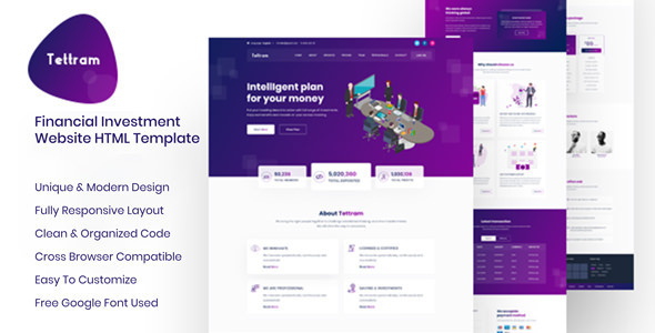 Tettram - Investment Website HTML Template