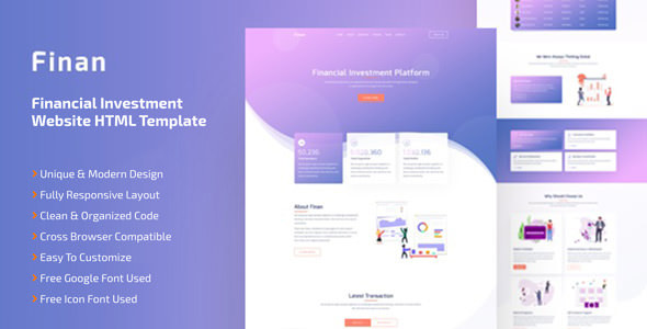 Finan - Financial Investment Website HTML Template