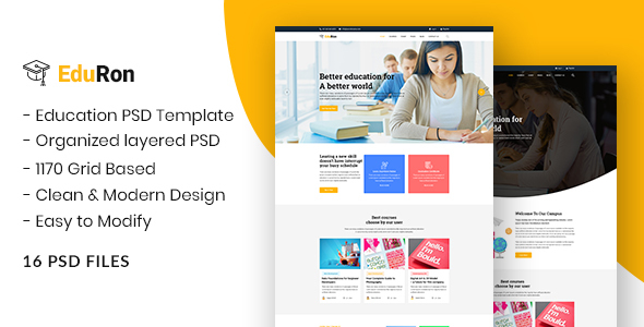 EduRon - Education Institute & Training Center PSD Template