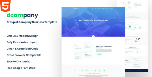 Dcompany - Group Of Company Business HTML Template