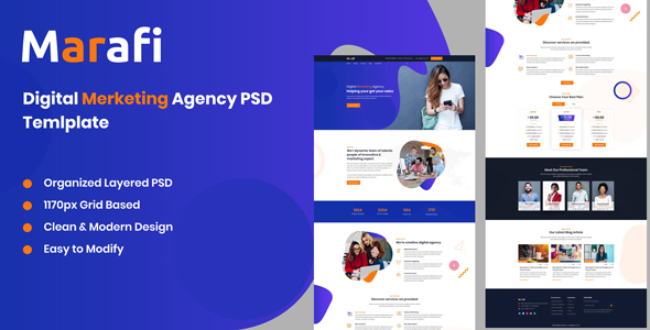 Marafi - Digital Marketing Agency PSD Template
