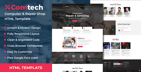ComTech - Computer & Repair Shop Business HTML Template