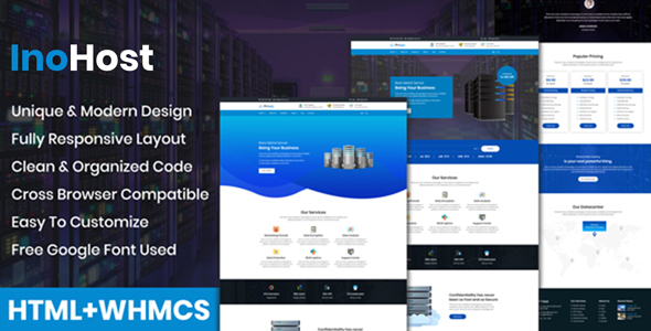InoHost - WebHosting Business HTML Template