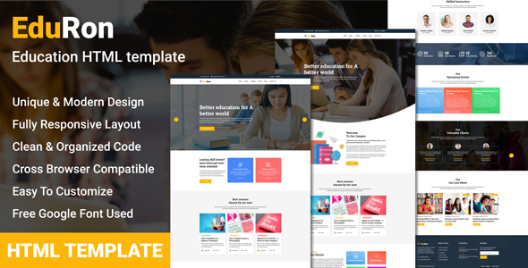 EduRon - Education Institute & Training Center HTML Template