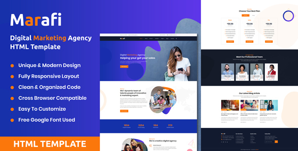 Marafi - Digital Marketing Agency HTML Template