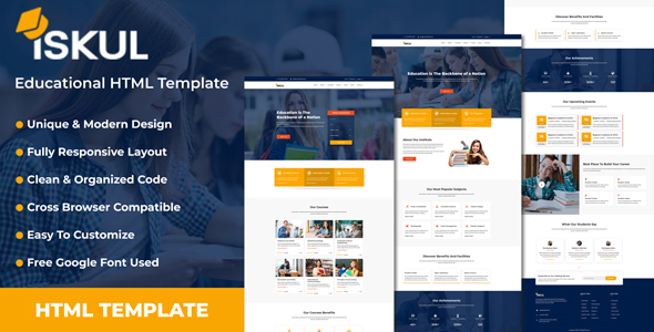 ISKUL - Educational Website HTML Template