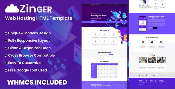 Zinger - Web Hosting HTML Template