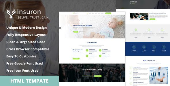 Insuron - Insurance Agency HTML5 Template