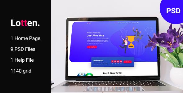Lotten - Lottery PSD Template