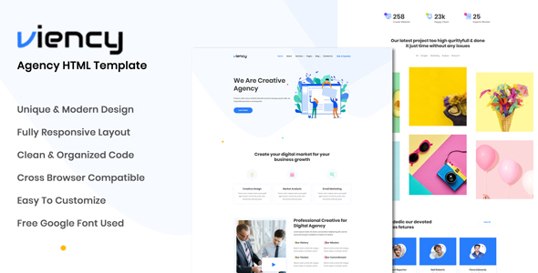 Viency - Agency HTML Template