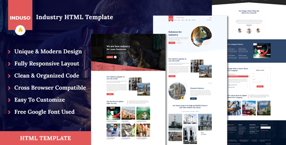 Induso - Industry HTML Template