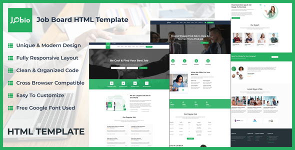 Jobio - Job Board HTML Template