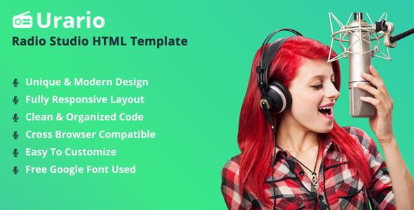 Urario - Online Radio HTML Template