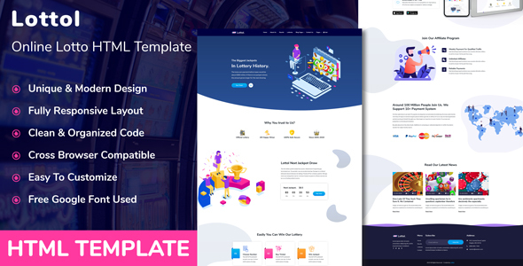 Lottol - Online Lotto HTML Template