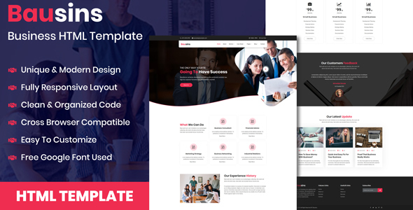 Bausins - Business Website HTML Template