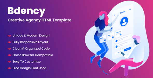 Bdency - Creative Agency HTML Template