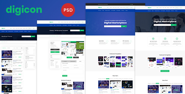 Digicon - Digital Content Marketplace PSD Template