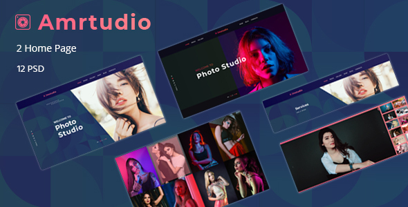 Amrtudio - Photography Studio Business PSD Template