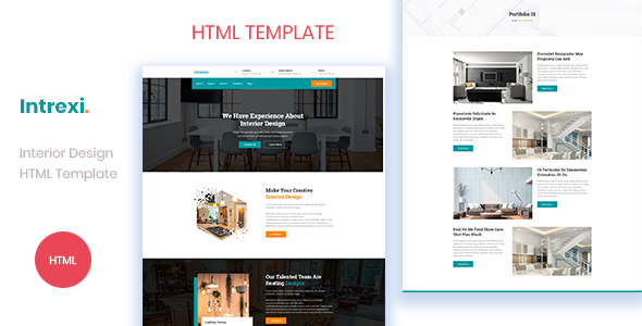 Intrexi - Interior Design Business HTML Template