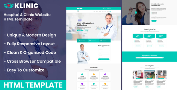 Klinic - Hospital & Clinic Website HTML Template