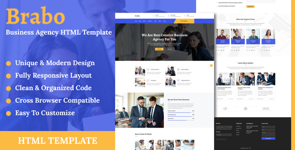 Brabo - Business Agency HTML Template