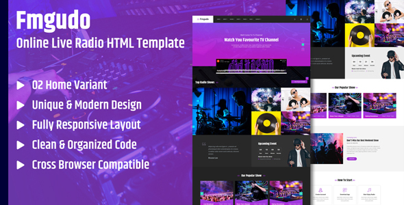 Fmgudo - Online Live Radio HTML Template